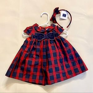 Baby girl dress and NWT headband 3-6 months